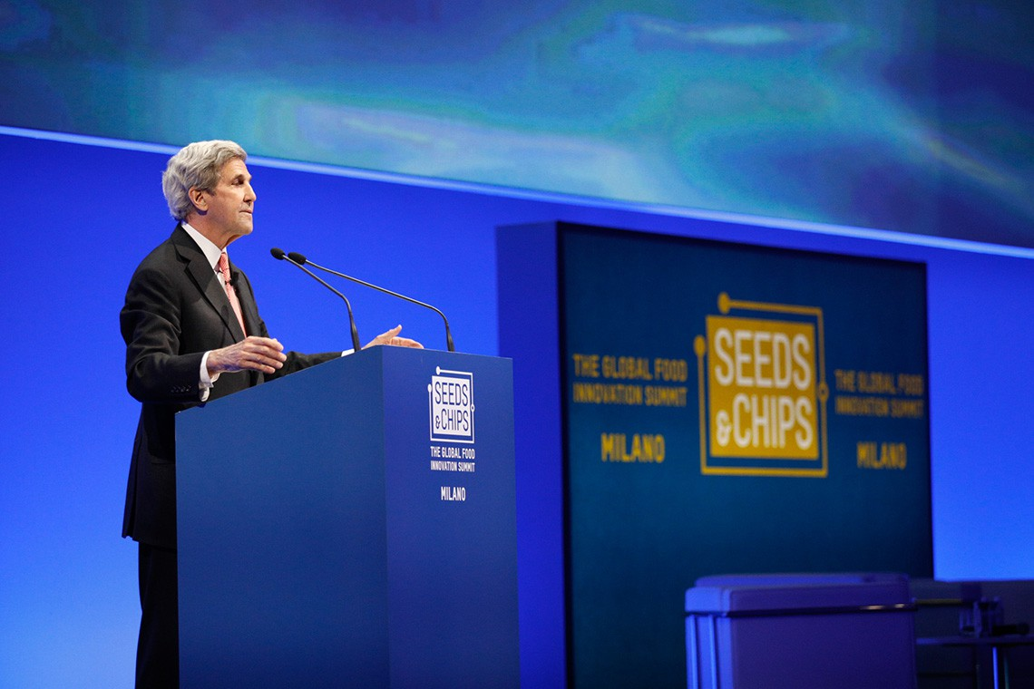 John Kerry a Seeds and Chips 2018