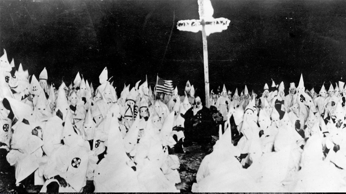 ku klux klan Kkk members supporting barry goldwater's campaign for the presidential  nomination at the 1964 republican national convention source:.