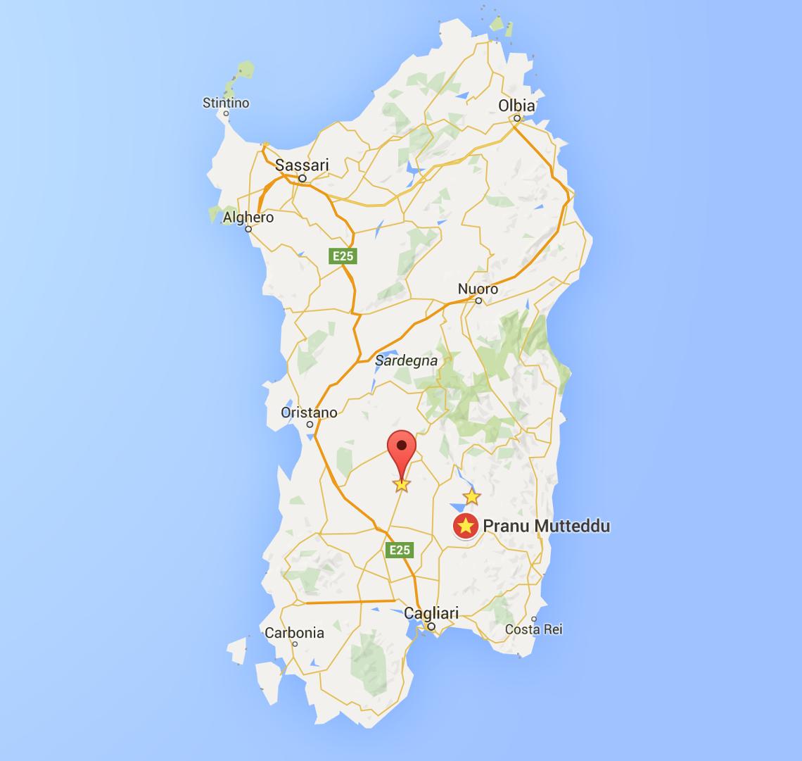 Cartina Sardegna Intera.Nuraghi Sardi I Piu Belli