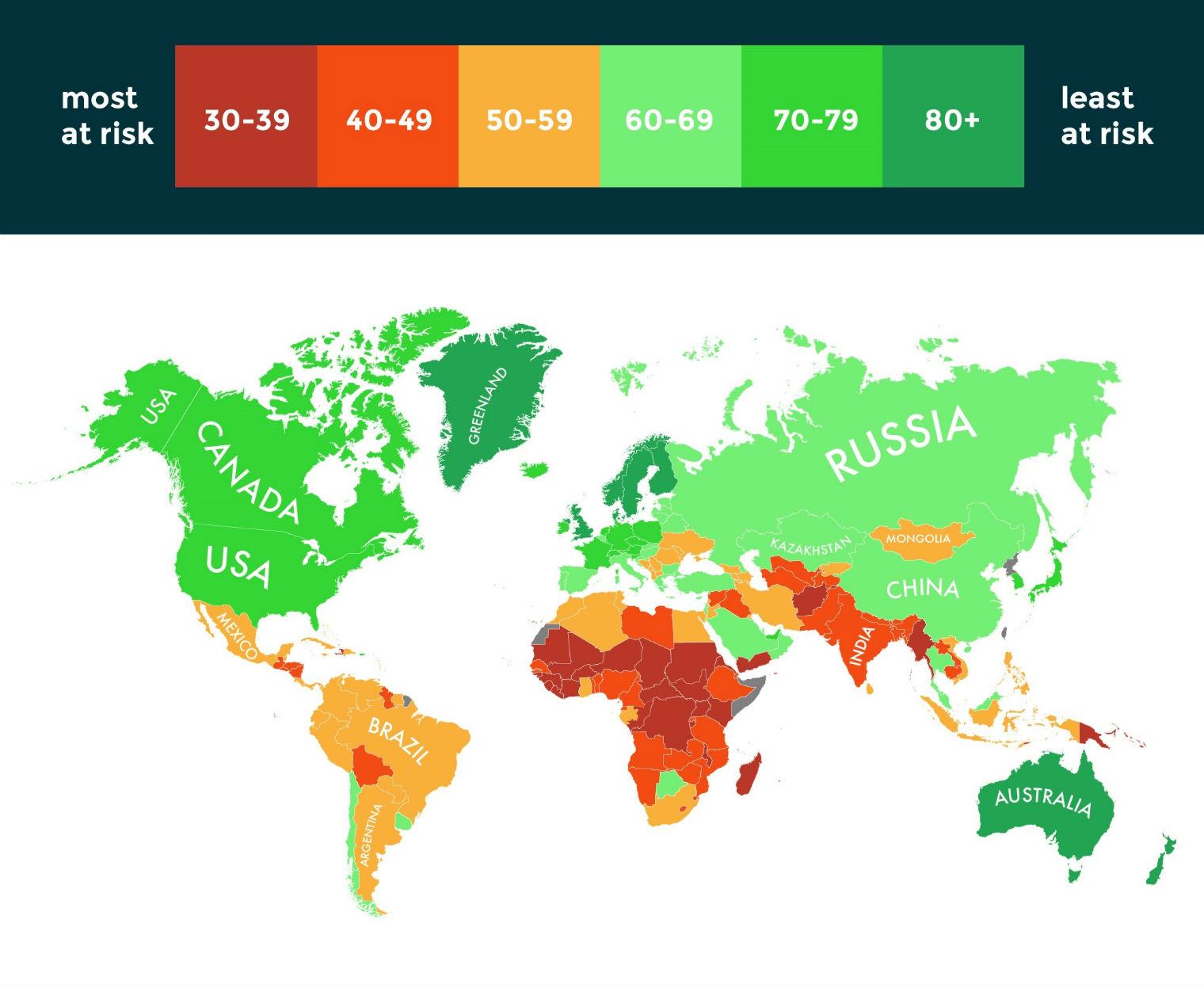 Cartina Clima Mondo.Quali Sono I Paesi Piu In Pericolo A Causa Dei Cambiamenti Climatici