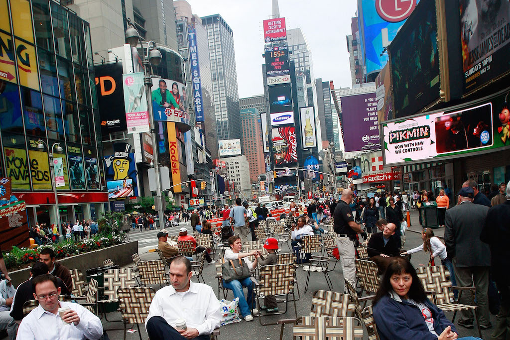 Section Of NYC's Famed Street Broadway Turned Into Pedestrian Walkway