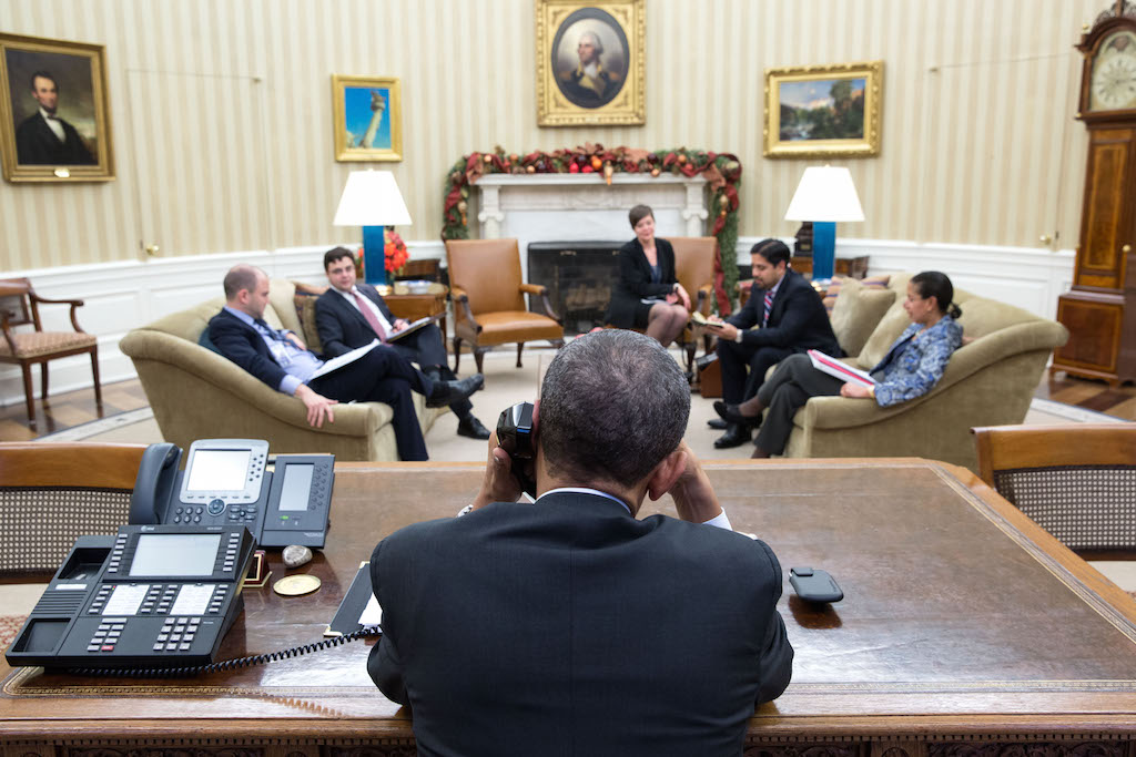 President Barack Obama Speaks With President Ra√∫l Castro
