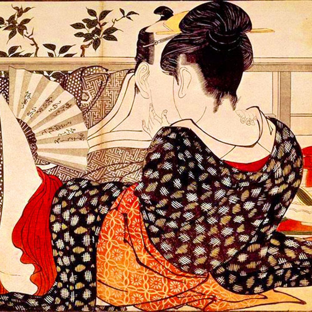 Kitagawa Utamaro, Il canto del guanciale, 1788