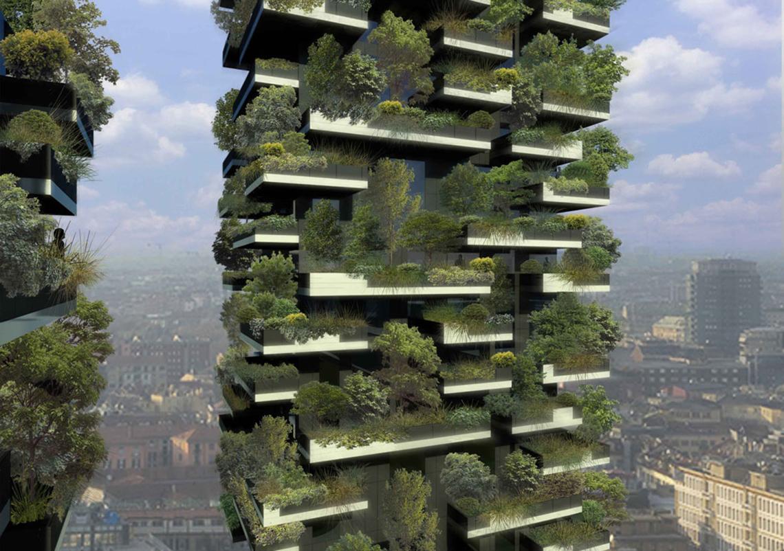 Bosco verticale di milano di stefano boeri il pi bello for Giardini verticali milano