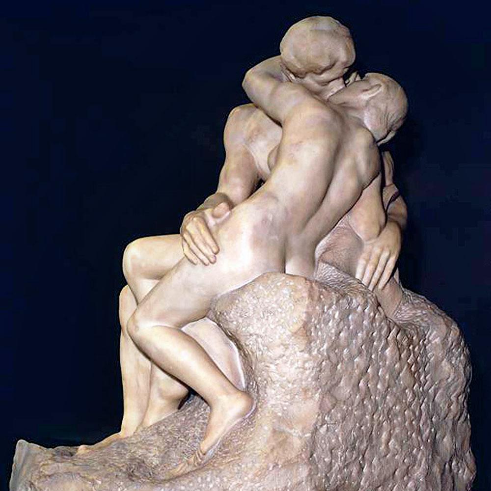 Auguste Rodin, Il bacio - La fede o L'amore profondo come i sepolcri o Francesca da Rimini o Paolo e Francesca, 1882