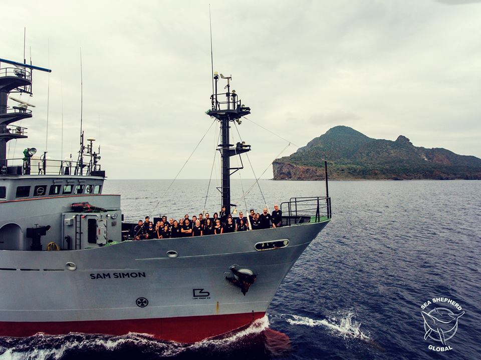 La nave Sam Simon di Sea Shepherd