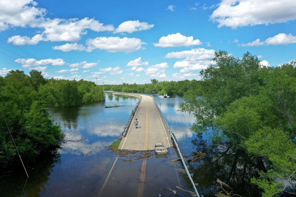 strada, alluvione, stati uniti
