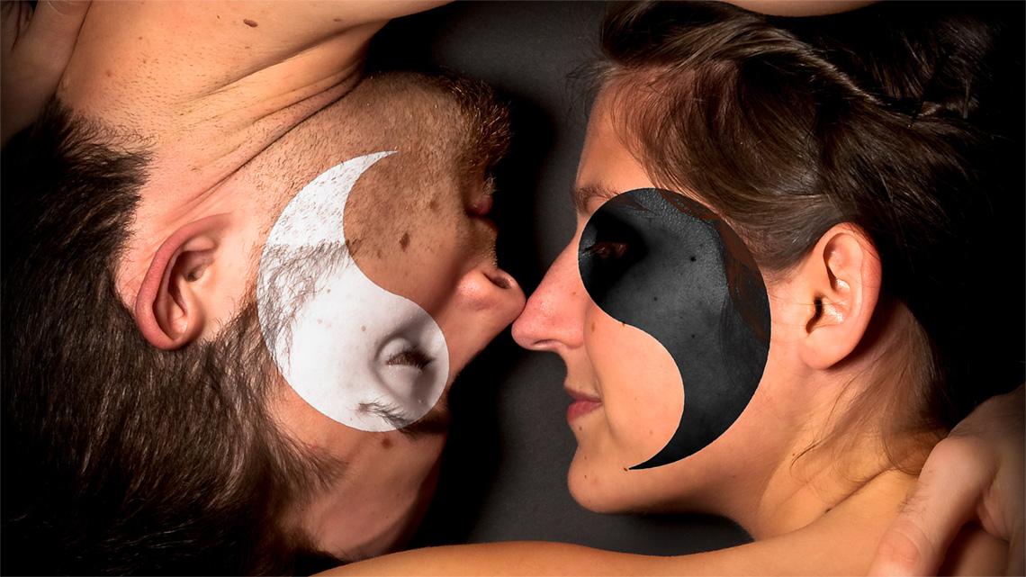 Yin Yang simboli amore